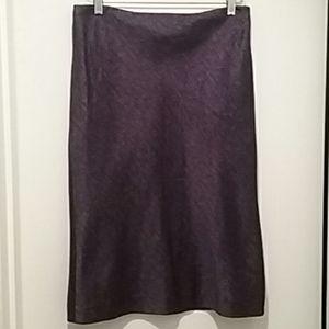 Dana Buchman Purple Silk Pencil Skirt Sz 10